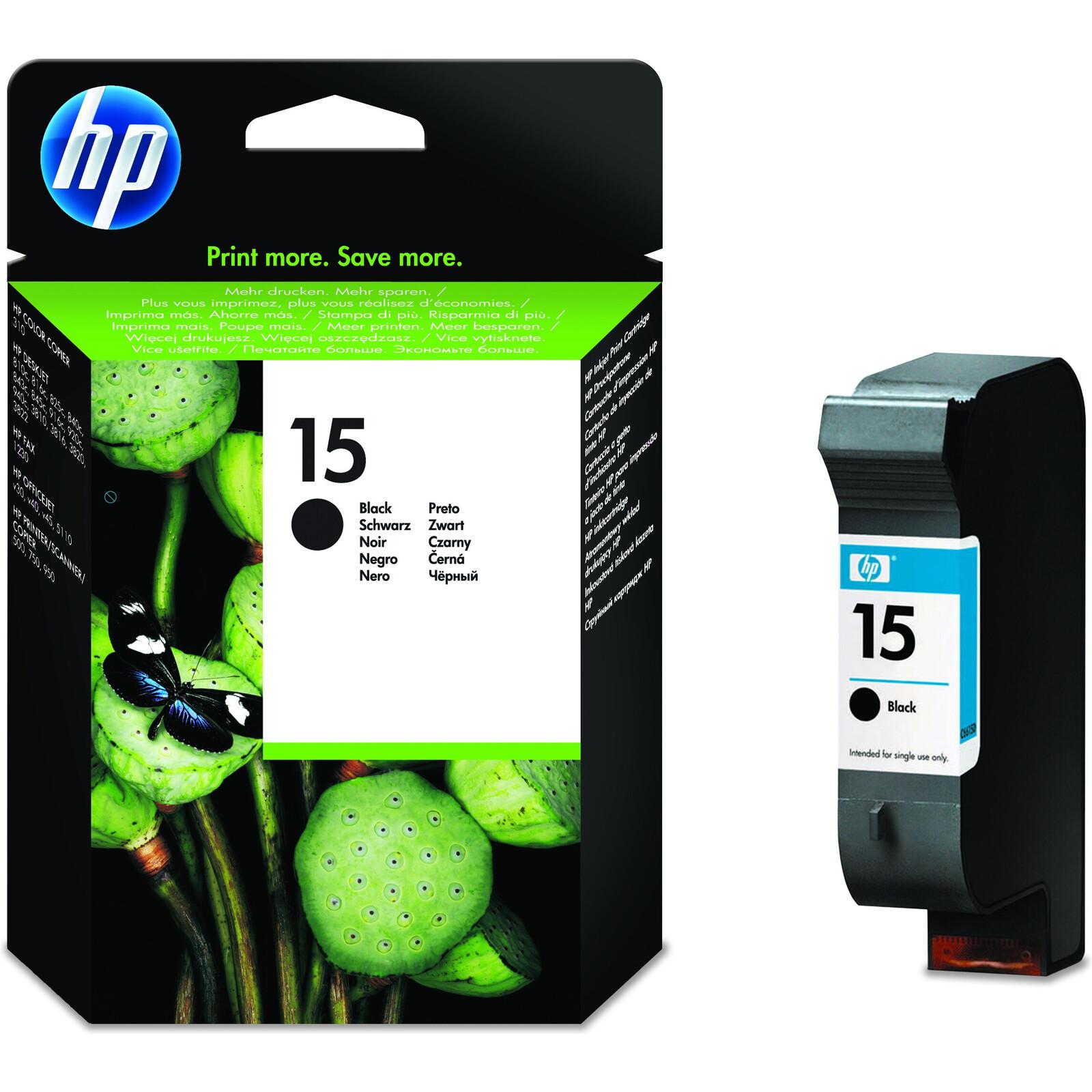 HP 15 C6615DE Tinte black 25ml