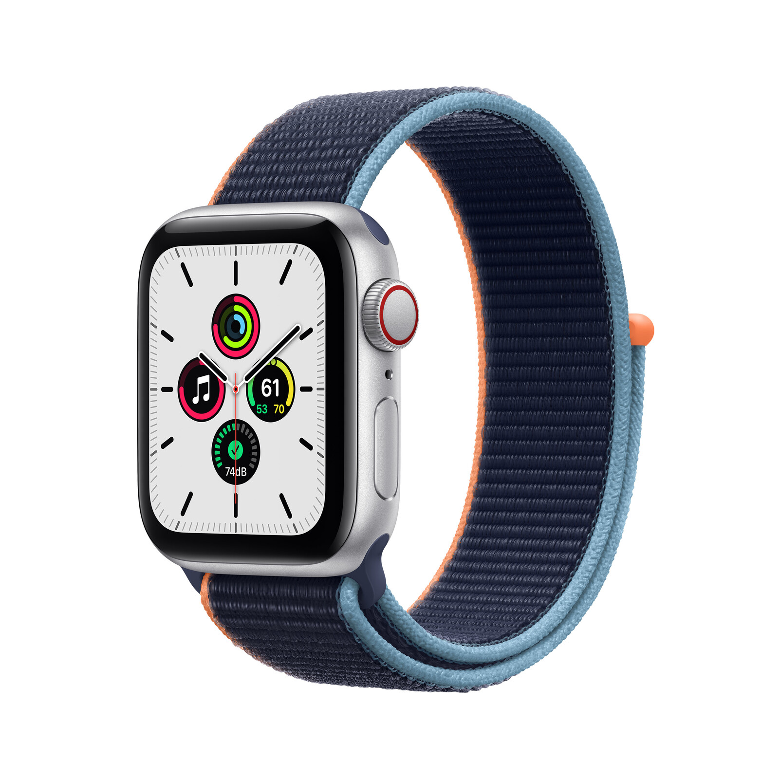 Apple Watch SE Cellular Alu silber 40mm marineblau
