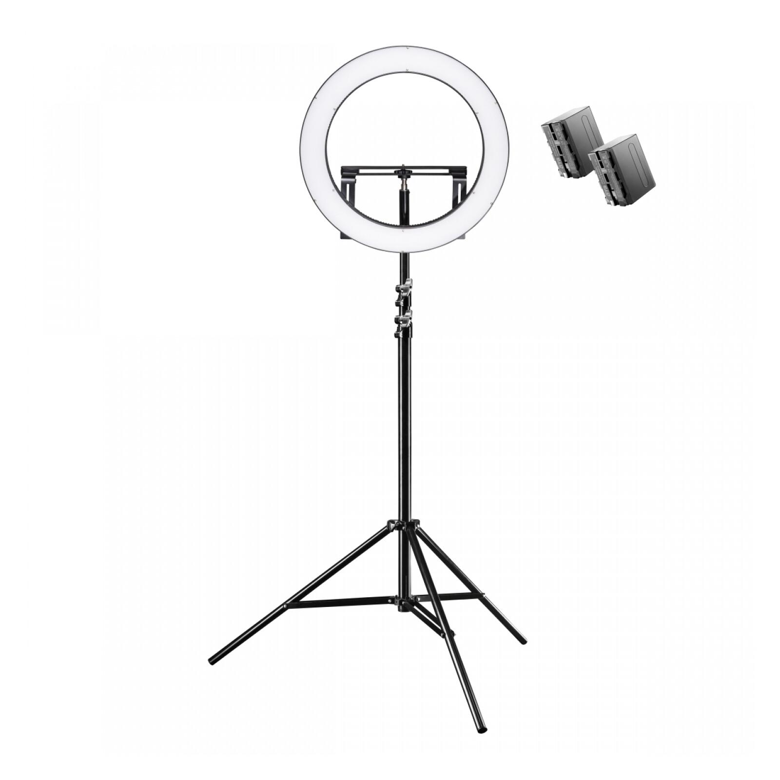 Walimex pro LED Ringleuchte 500 Bi Color Set inkl. Lampensta