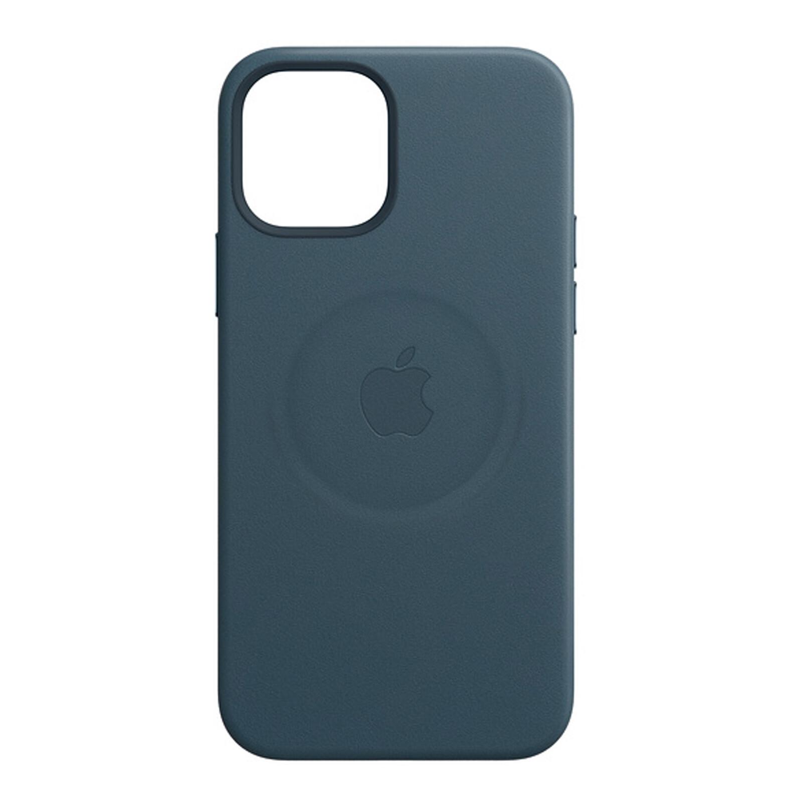 Apple iPhone 12/12 Pro Leder Case mit MagSafe baltischblau