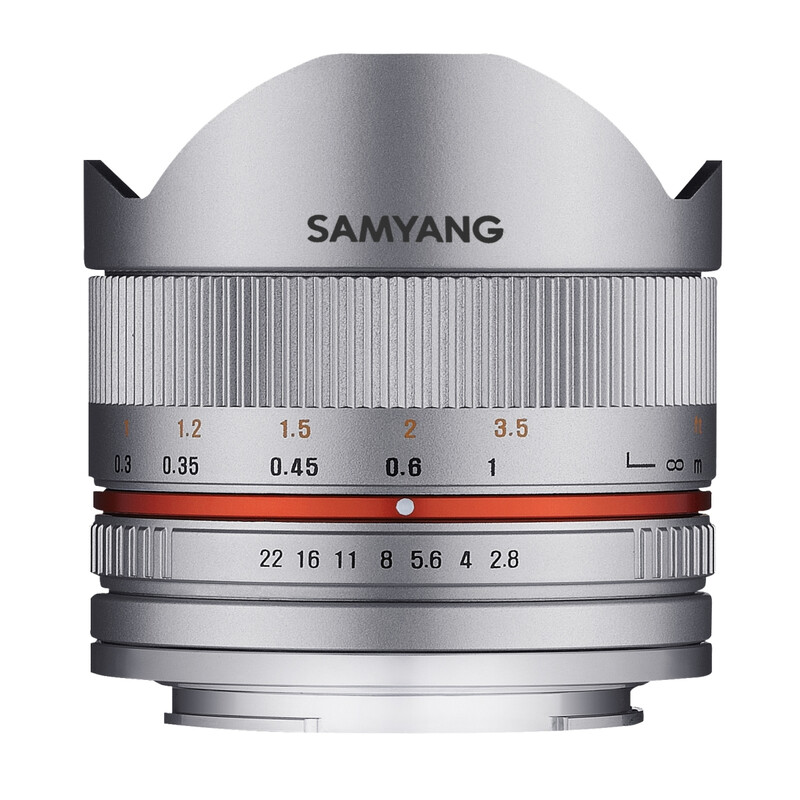 Samyang MF 8/2,8 Fisheye II Fuji X silber
