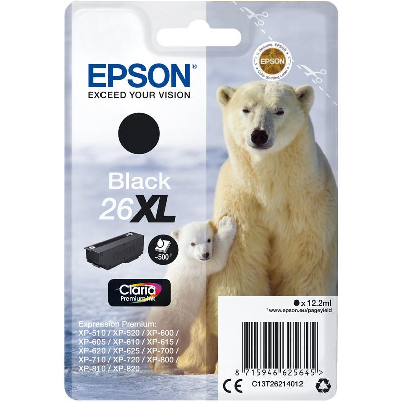 Epson 26XL T2621 Tinte Black 12,2ml