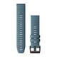 Garmin Quickfit Band 22mm Silikon taubenblau schwarz
