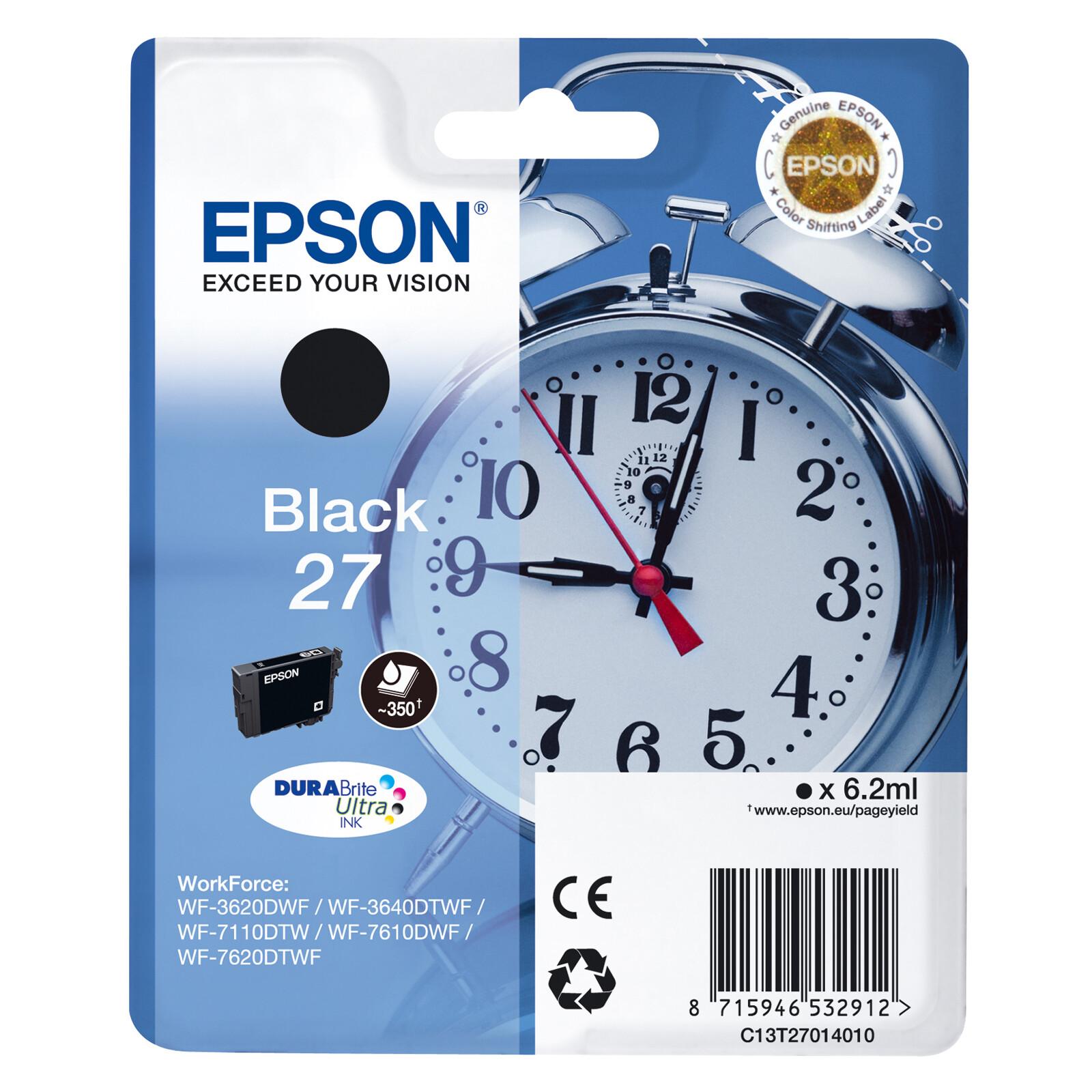 Epson 27 T2701 Tinte Black 6,2ml