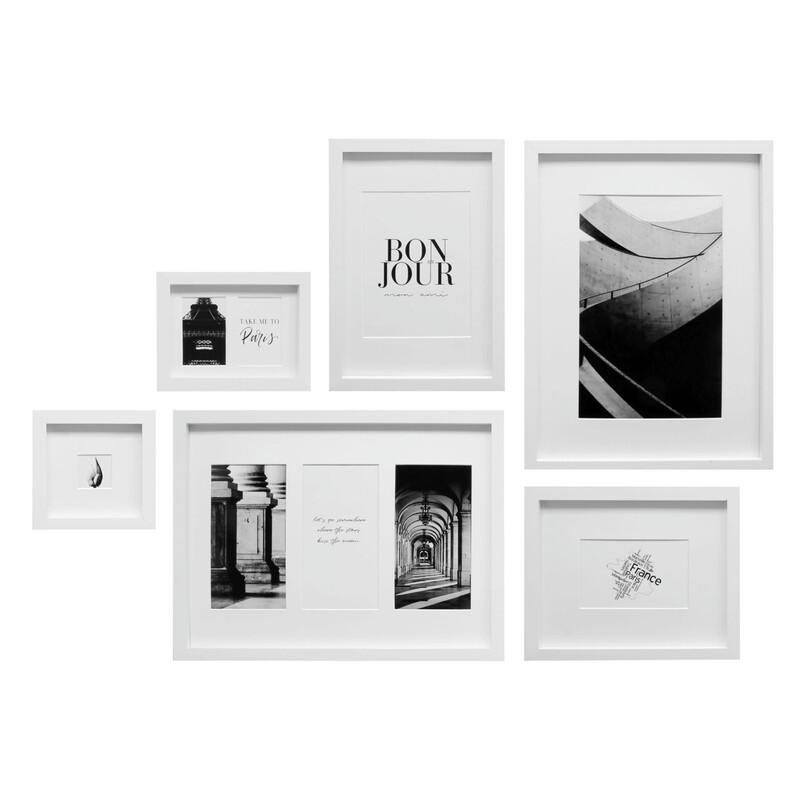 Deknudt Bilderwand Set inkl. 6 Klebenägel