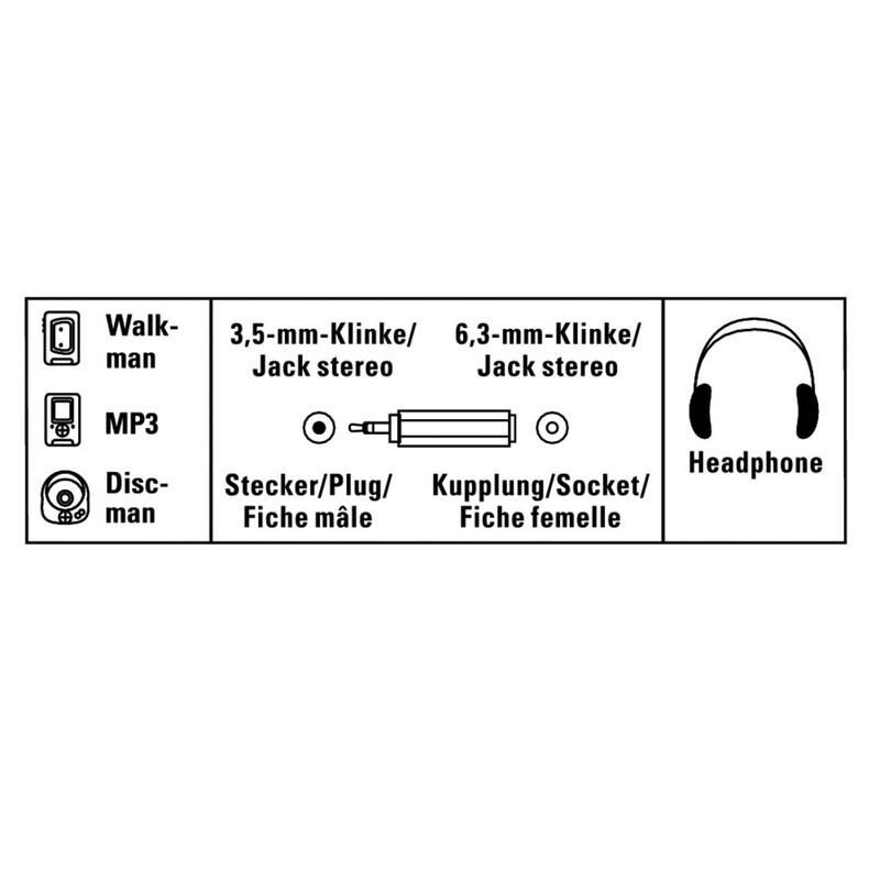 Hama Audio-Adapter 3,5mm Klinken-Stecker 6,3 Kupplung