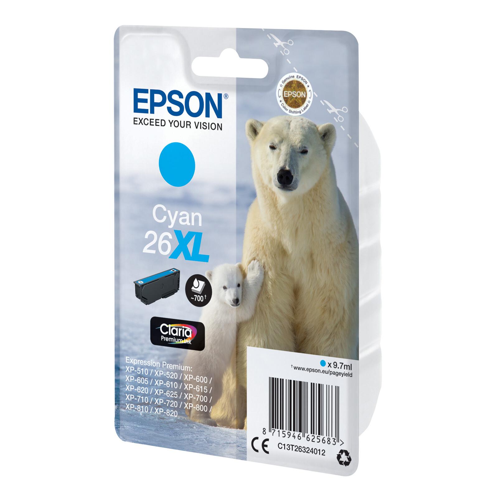 Epson 26XL T2632 Tinte Cyan 9,7ml