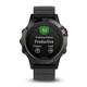 Garmin Fenix 5 Grau/Schwarz Multisportuhr Smartwatch