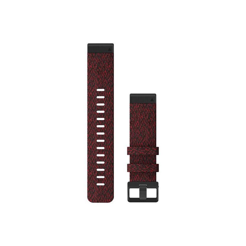 Garmin Quickfit Band 22mm Nylon rot meliert schwarz