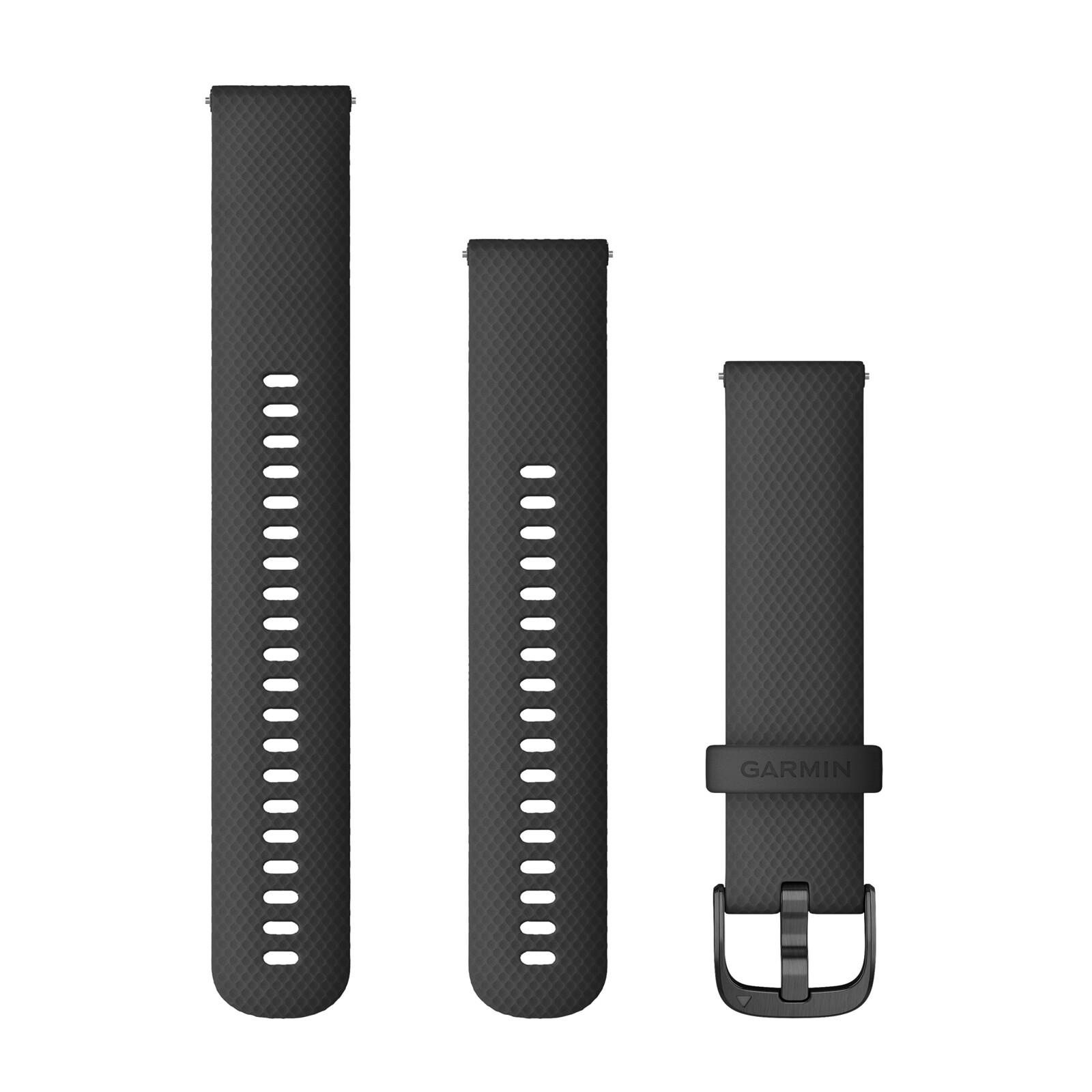 Garmin Uhrenarmband Vivoactive 20mm Silikon schwarz
