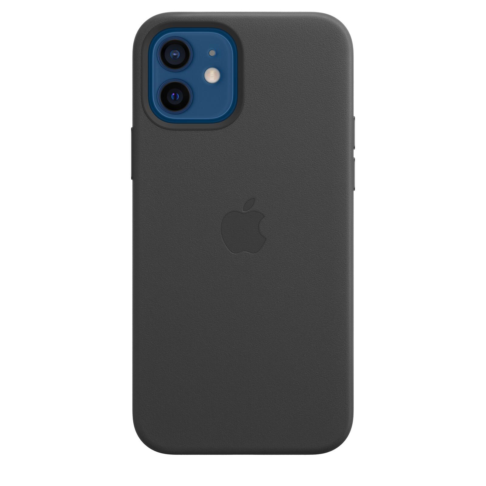 Apple iPhone 12/12 Pro Leder Case mit MagSafe schwarz