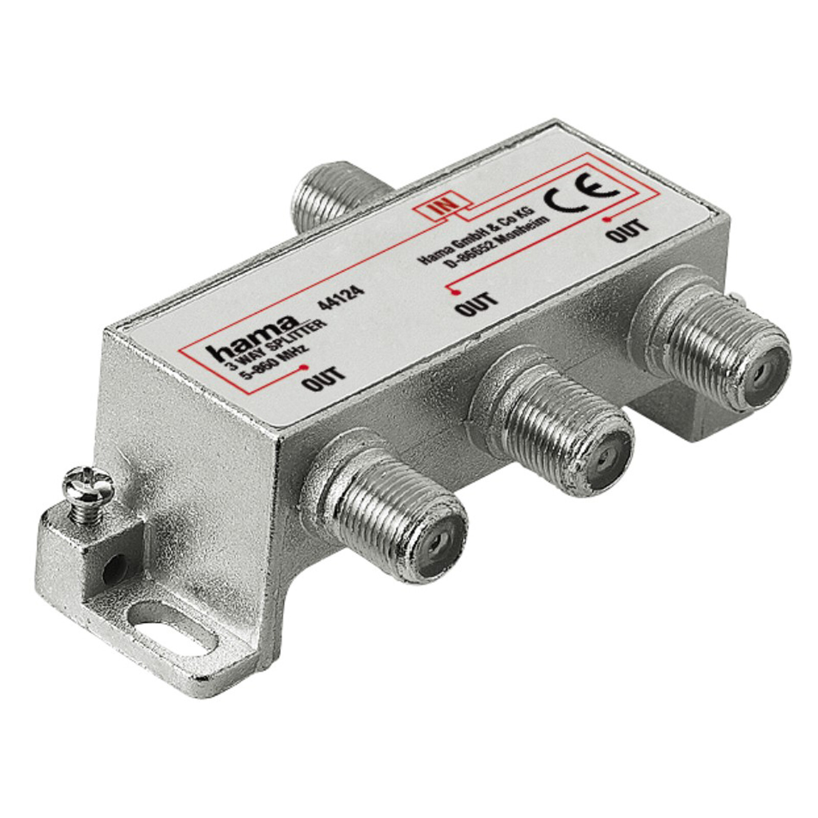 Hama 44124 3fach Kabelverteiler Antennen