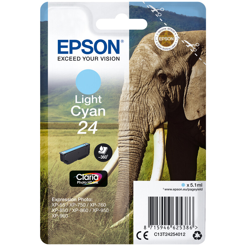 Epson 24 T2425 Tinte Light Cyan 5,1ml