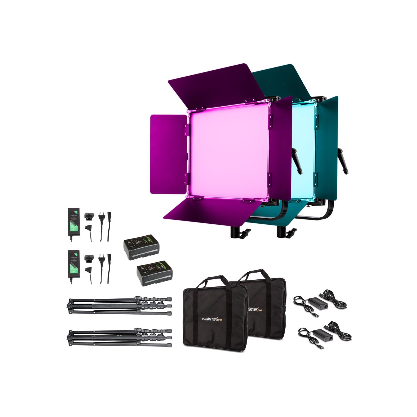 Walimex pro LED Rainbow 100W RGBWW Set 4 (2x Rainbow 100W, 2