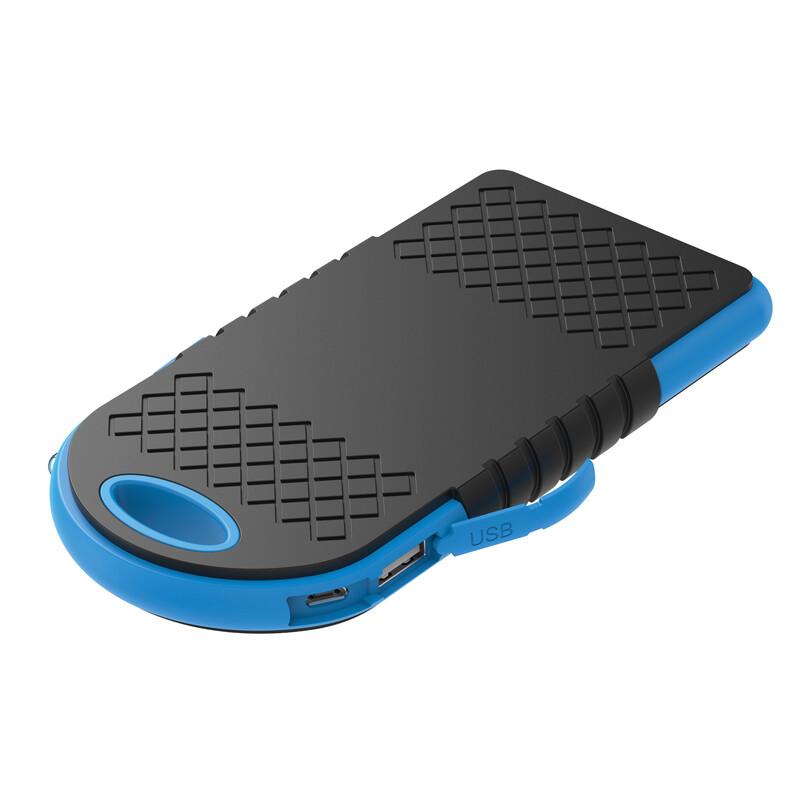Xlayer Powerbank Solar Wireless Black/Blue 4000 mAh