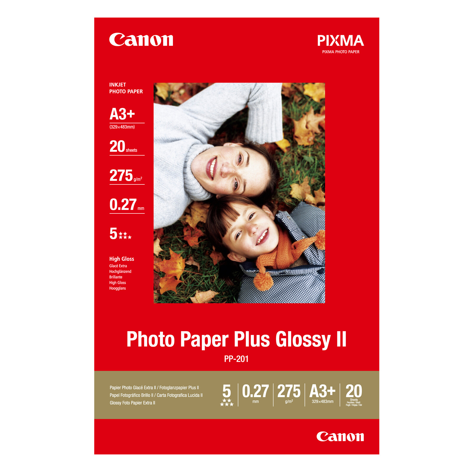 Canon PP-201 plus A3+ 20Bl. 260g Photo Glossy