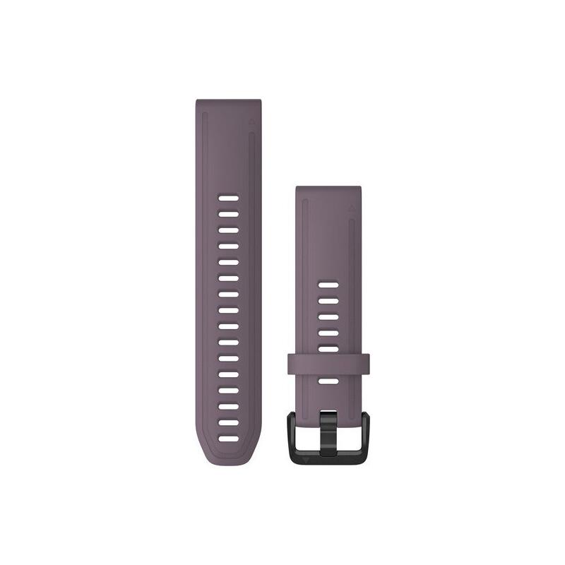 Garmin Quickfit Band 20mm Silikon dunkellila schwarz