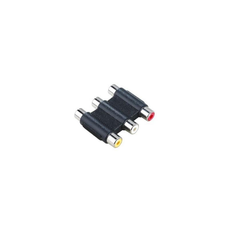 Hama 122249 Video-Adapter 3 Cinch-Kupplungen