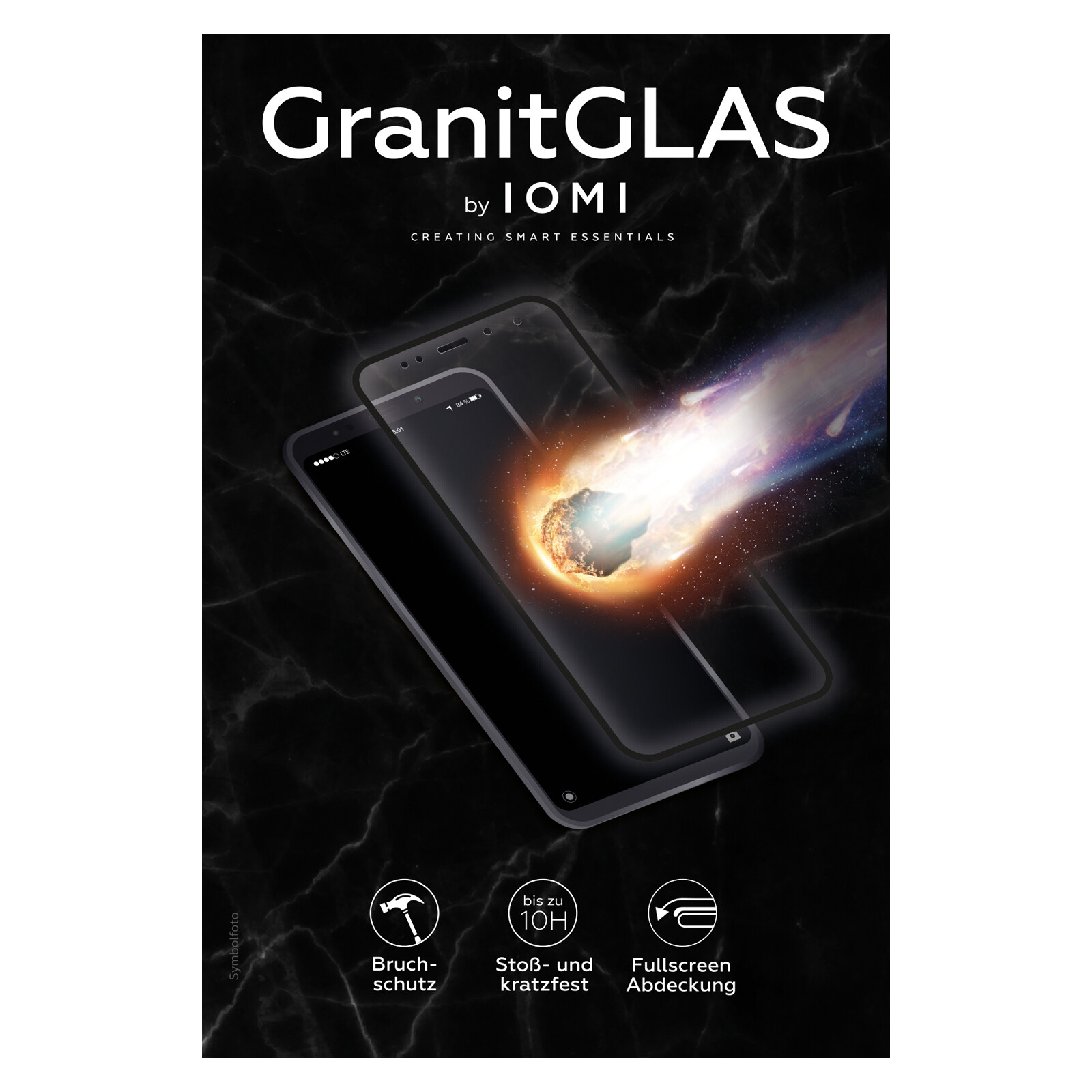 IOMI Glas Granit Apple iPhone 7/8/SE 2020 schwarz