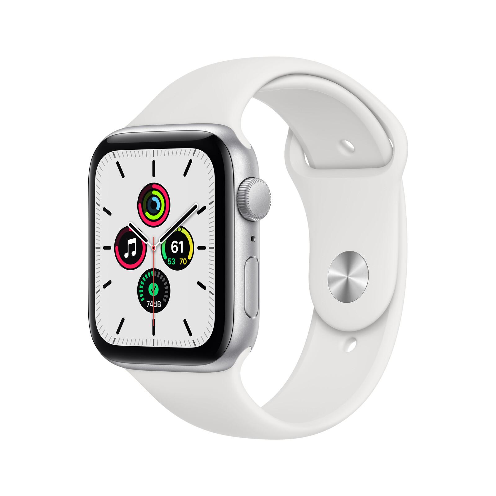 Apple Watch SE GPS Alu silber 44mm weiß