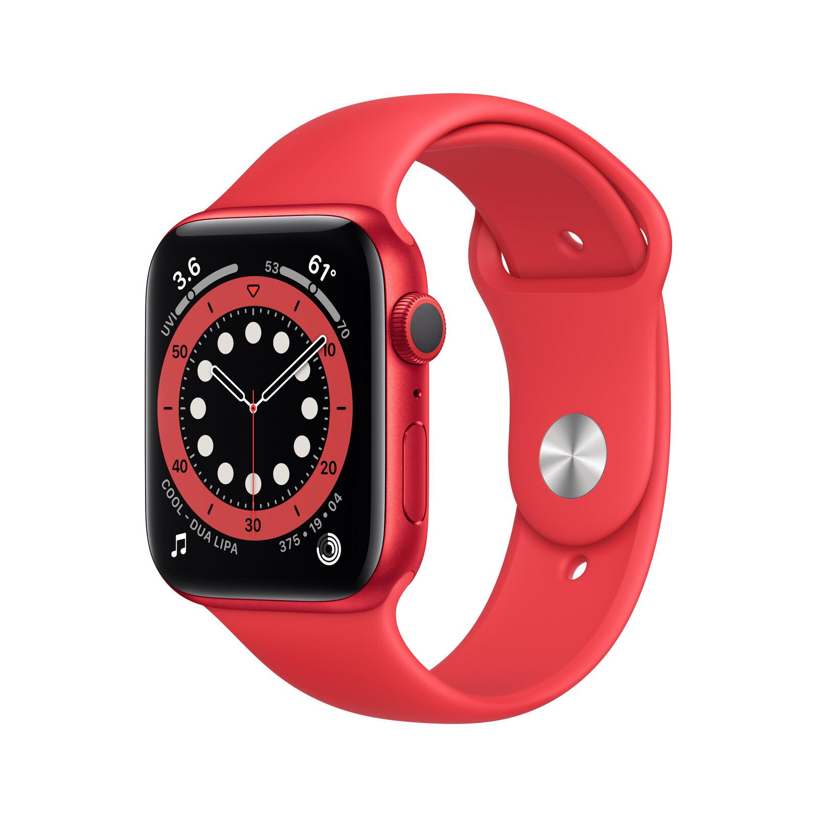 Apple Watch Series 6 GPS Alu rot 44mm rot