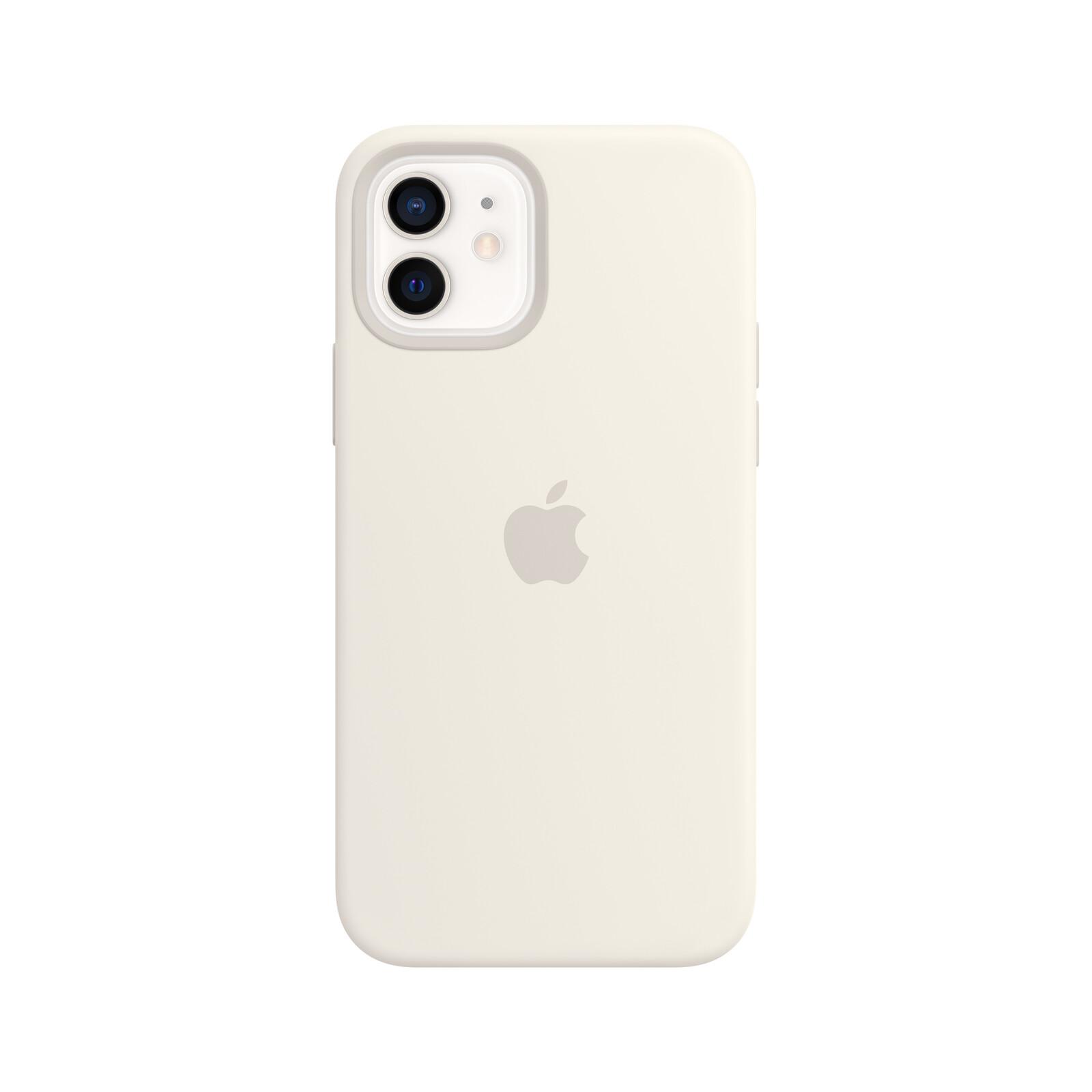 Apple iPhone 12/12 Pro Silikon Case mit MagSafe weiß