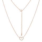 Halskette Heart rosevergoldet echt Silber