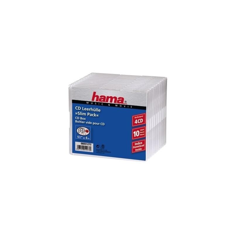 Hama 51273 CD-Slim-Pack 4,10er Pack
