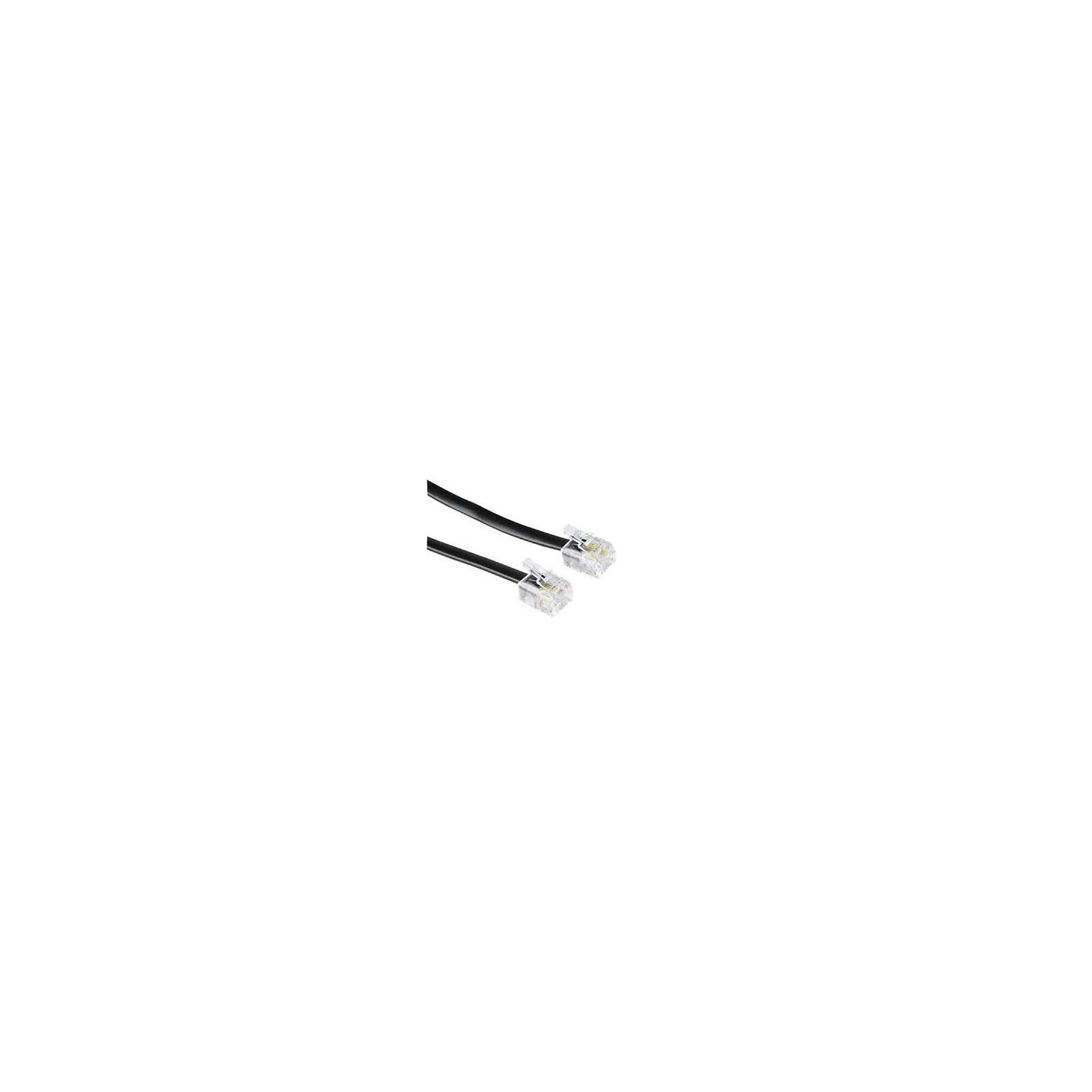 Hama 44931 Modularkabel, Stecker 6p4c - Stecker 6p4c, 10 m,