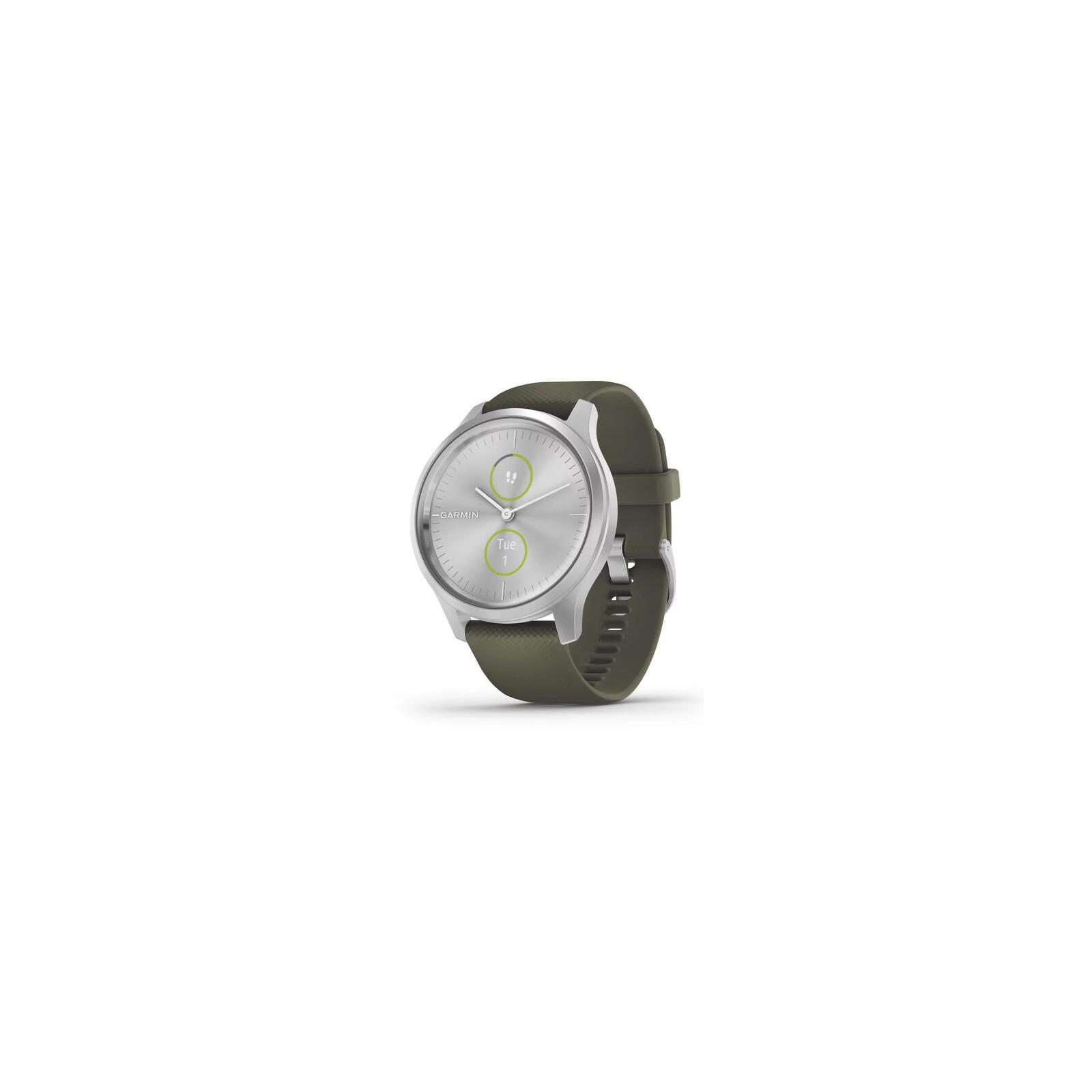 Garmin Vivomove Style 42mm Silber/Mossgrün