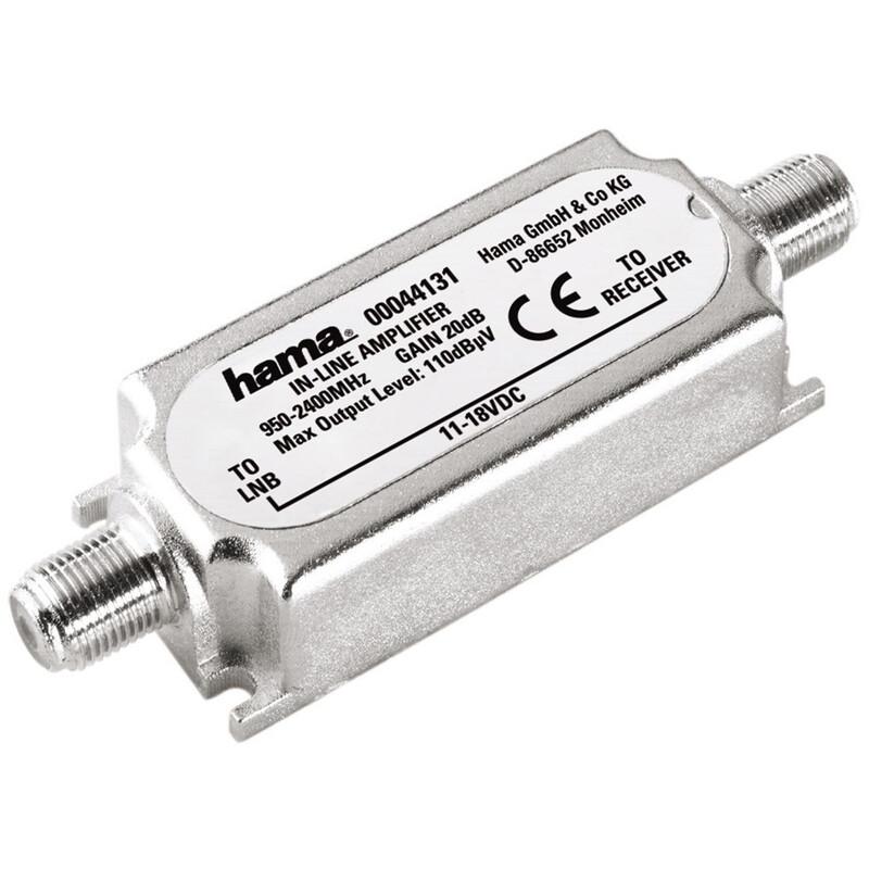 Hama 44131 SAT-Inline-Verstärker, 20 dB