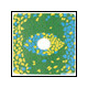 Cokin A674 Center Spot 2 Blau/Gelb
