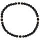 Armband Jade schwarz rosevergoldet echt Silber