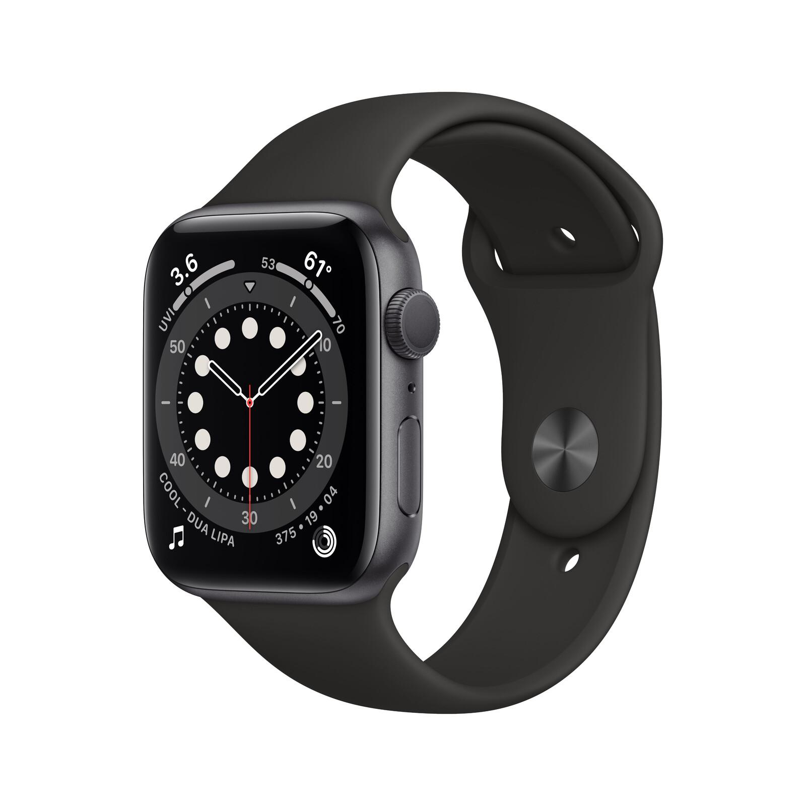 Apple Watch Series 6 GPS Alu space grau 40mm schwarz