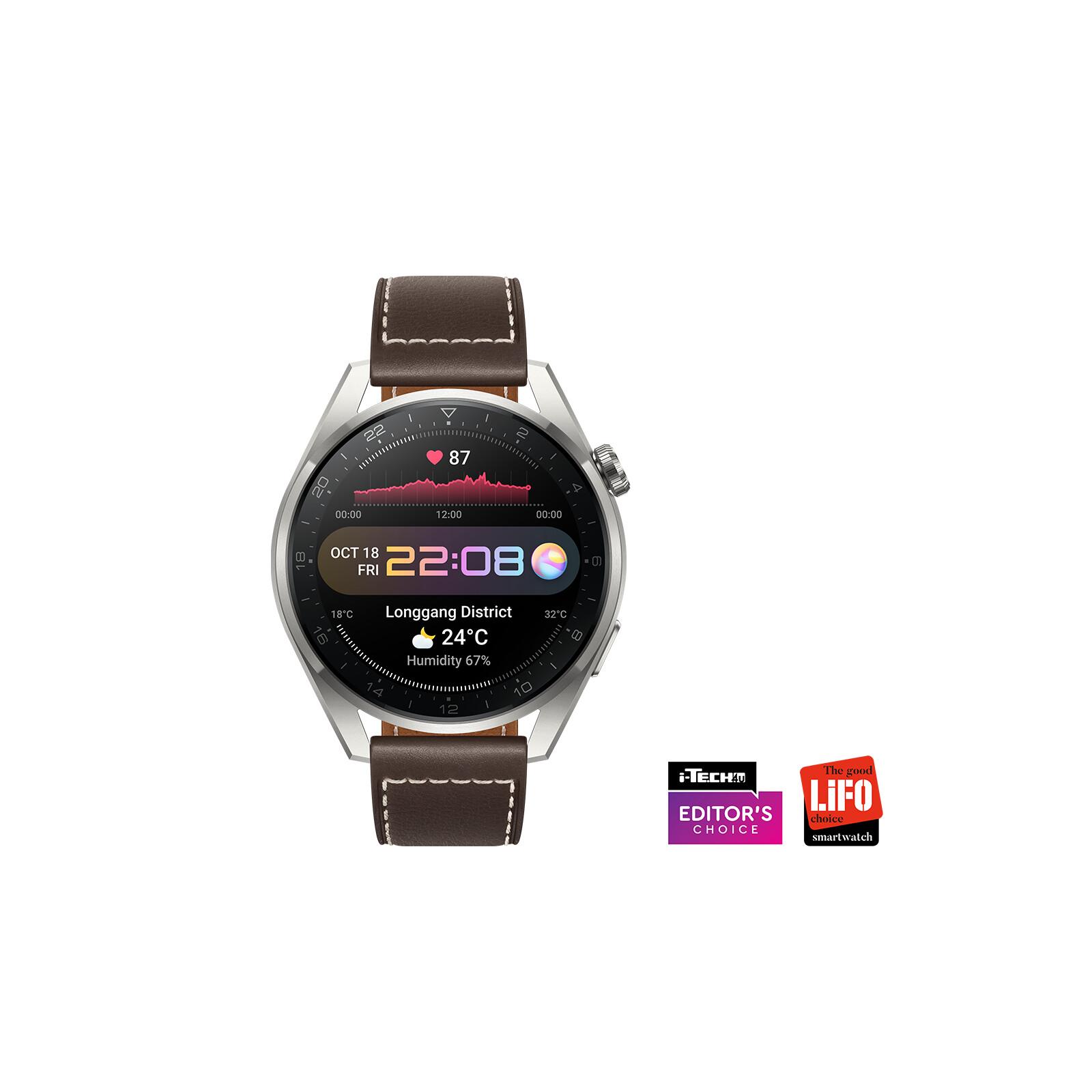 Hua Watch 3 Pro Classic eSim 48mm Leder grau/titanium