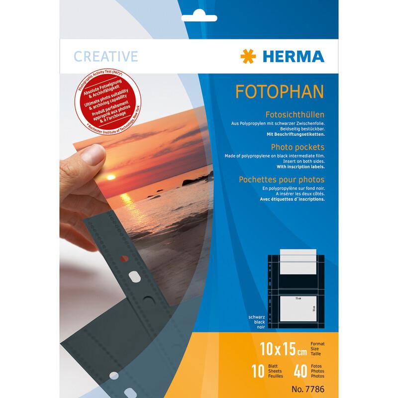 Herma 7786 Fotophan 10x15 quer schwarz