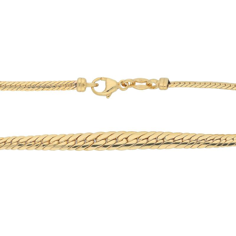 Goldcollier mit Verlauf 45cm