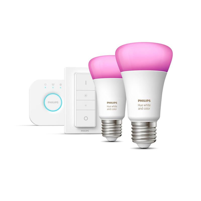 Beleuchtung Philips Hue RGB E27 2er Set Dimmschalter