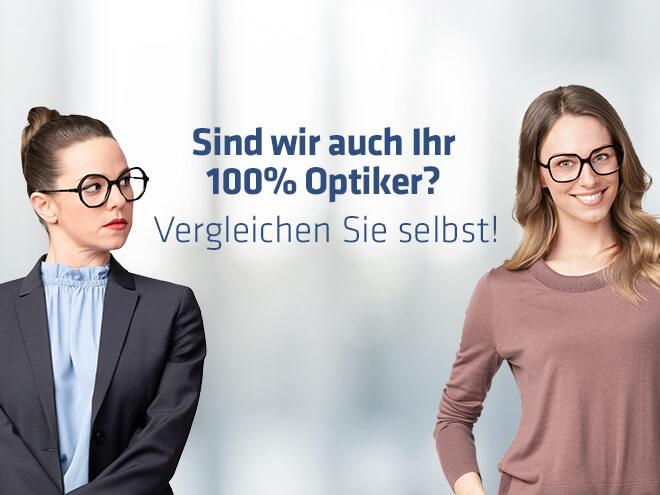 eine Businessfrau mit Brille sieht eine Frau im Casual-Look mit Brille an