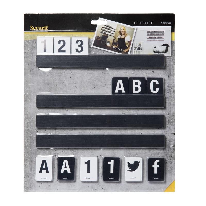 Securit Buchstabenleiste 1m inkl. Buchstaben und Zahlen
