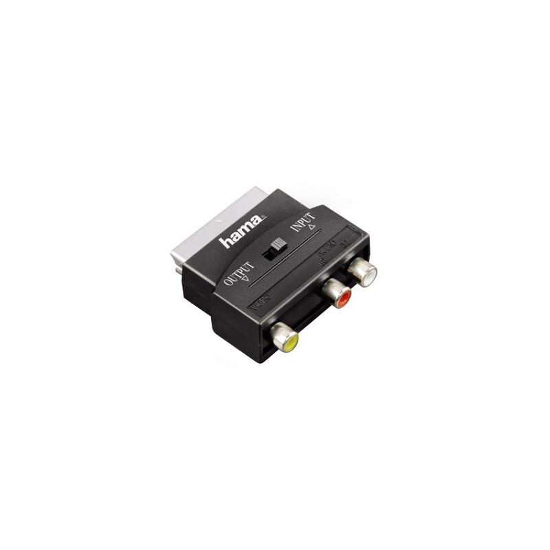 Hama 122239 Video-Adapter 3 Cinch-Kupplungen - Scart Stecker