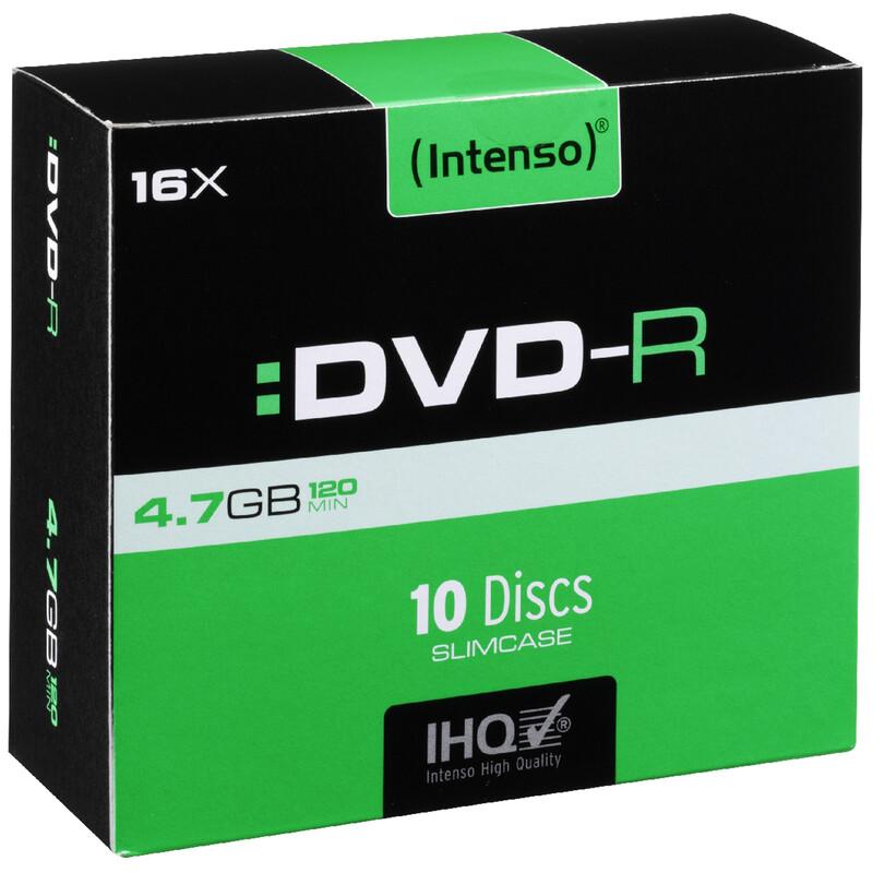Intenso DVD-R 4,7GB/16x Slim Case 10er