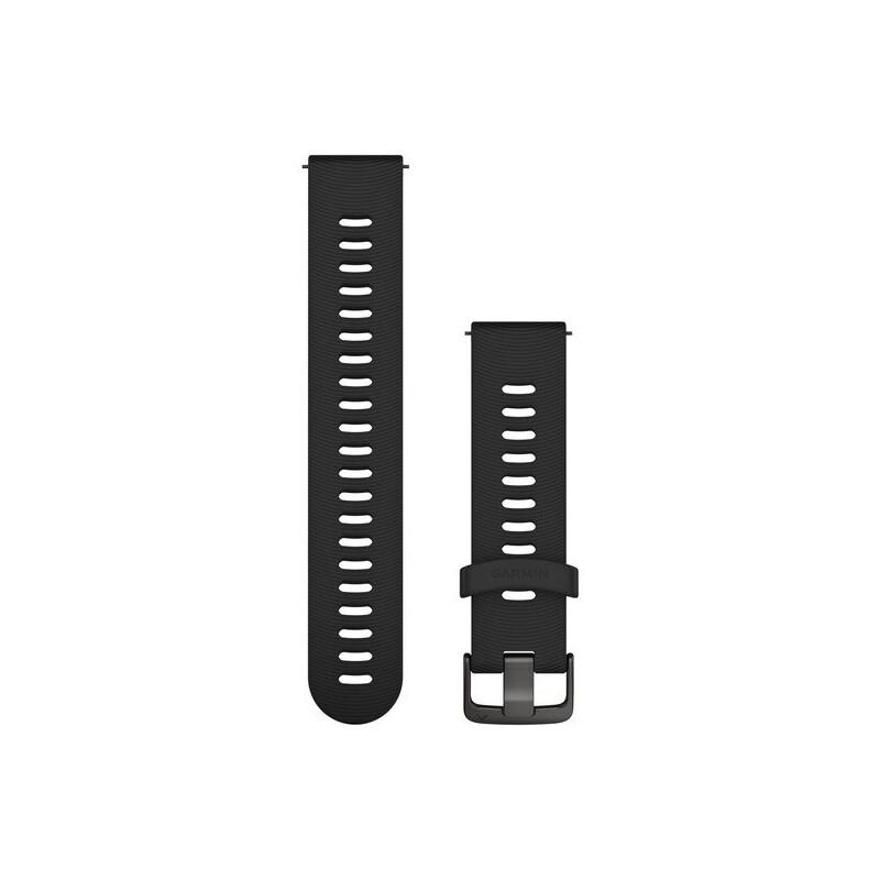 Garmin Uhrenarmband Forerunner 20mm Silikon schwarz/schiefer