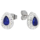 Ohrringe Tropfen Kristalle blau