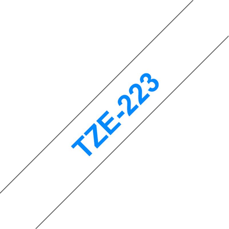 Brother TZE-223 Band weiß/blau 9mm