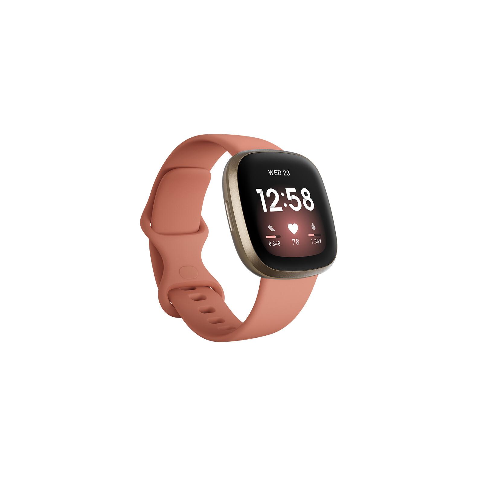 Fitbit Versa 3 Pink Clay/Soft Gold Aluminum