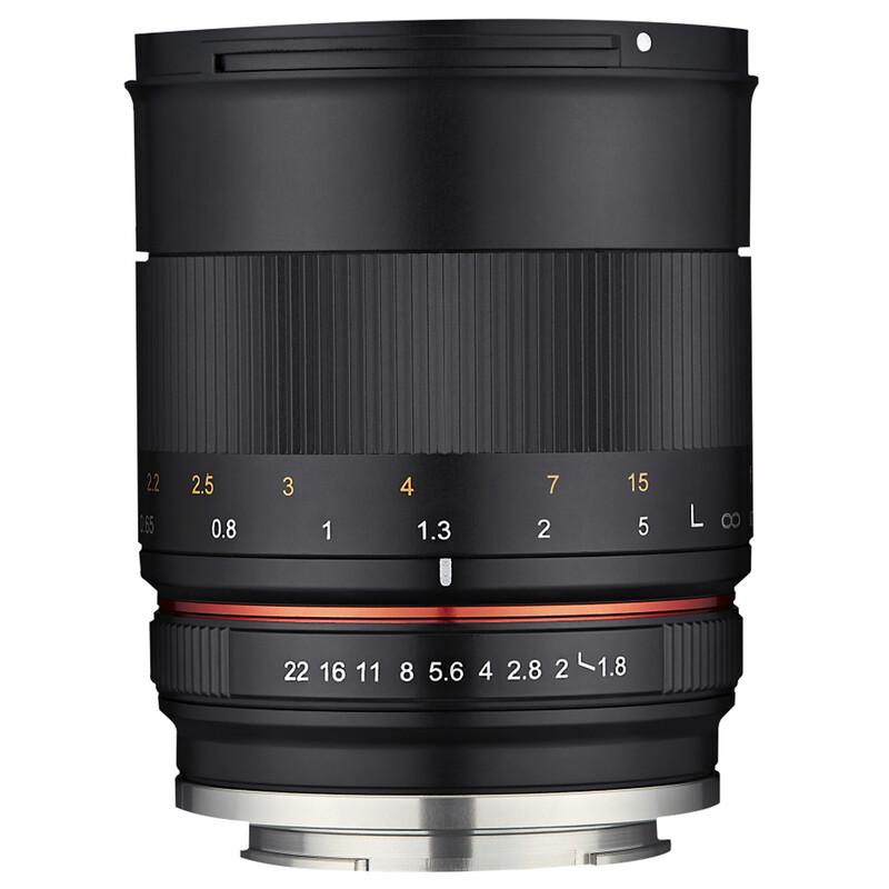 Samyang MF 85/1.8 ED UMC CS Canon EF-M + UV Filter