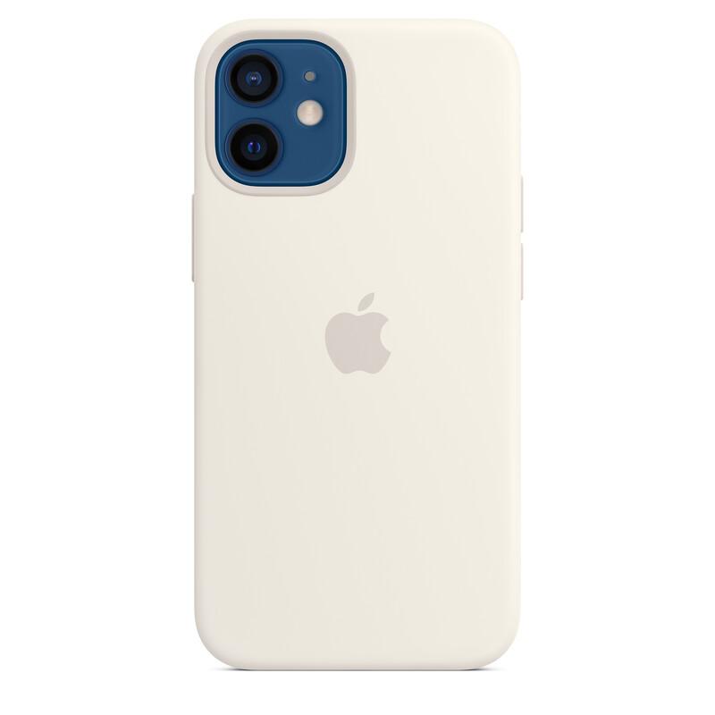 Apple iPhone 12 mini Silikon Case mit MagSafe weiß