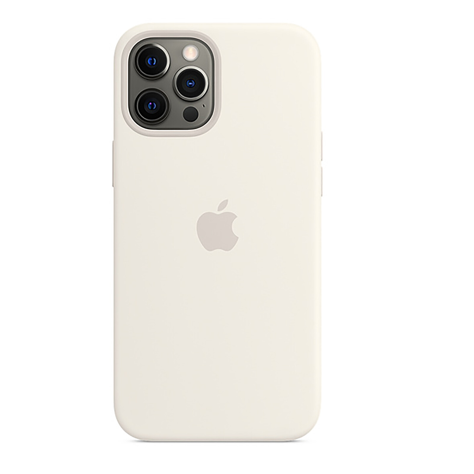 Apple iPhone 12 Pro Max Silikon Case mit MagSafe weiß
