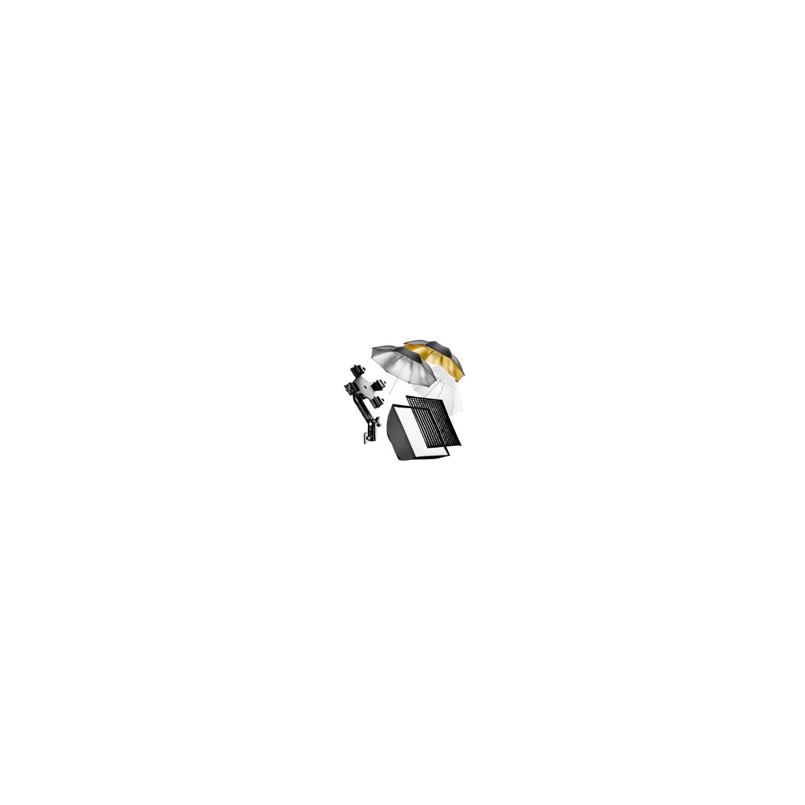 walimex 4f. Blitzhalter inkl. Softbox u. Schirmset